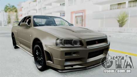 Nissan Skyline GT-R R34 2002 F&F4 Damage Parts para GTA San Andreas