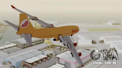 GTA 5 Jumbo Jet v1.0 Adios Airlines para GTA San Andreas vista direita