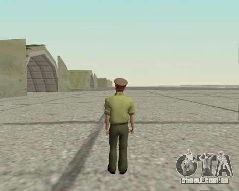 Oficial das forças armadas da Federação russa para GTA San Andreas terceira tela