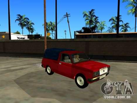 VAZ 2104 de Captação de para GTA San Andreas traseira esquerda vista