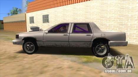Stretch Sedan Drag para GTA San Andreas esquerda vista