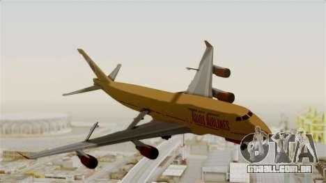 GTA 5 Jumbo Jet v1.0 Adios Airlines para GTA San Andreas traseira esquerda vista