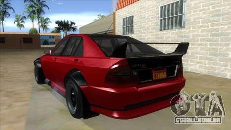GTA V Karin Sultan RS 4 Door para GTA San Andreas traseira esquerda vista