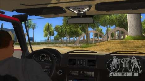 Mercedes-Benz G500 Off Road V3.0 para GTA San Andreas vista interior