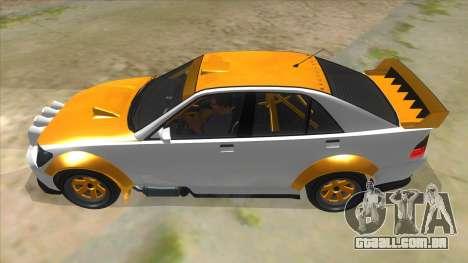 GTA V Karin Sultan RS 4 Door para GTA San Andreas esquerda vista