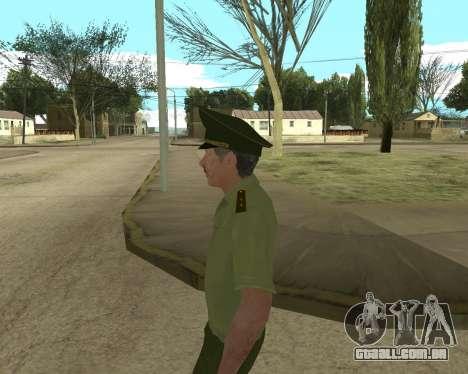 Sênior mandado de oficial de danyluk para GTA San Andreas sexta tela