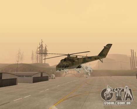 Um Mi-24 De Crocodilo para vista lateral GTA San Andreas