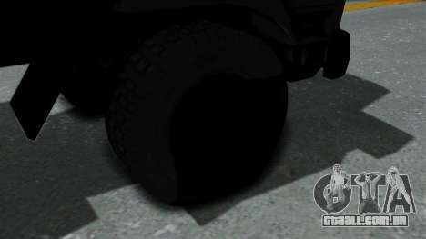 FAP Vojno Vozilo v2 para GTA San Andreas traseira esquerda vista