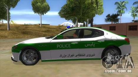 Maserati Iranian Police para GTA San Andreas esquerda vista