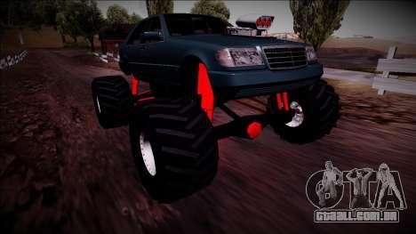 Mercedes-Benz W140 Monster Truck para GTA San Andreas vista inferior
