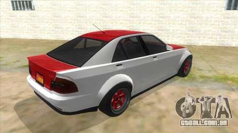 GTA V Karin Sultan RS 4 Door para GTA San Andreas vista direita