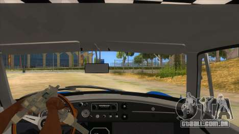 Richard Hammond MGB GT Top Gear para GTA San Andreas vista interior