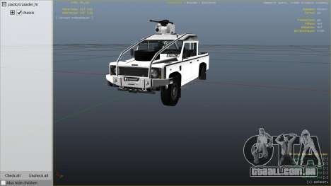 GTA 5 Land Rover 110 Pickup Armoured vista lateral direita