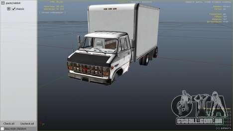 GTA 5 Chevrolet G-30 Cube Truck vista lateral direita