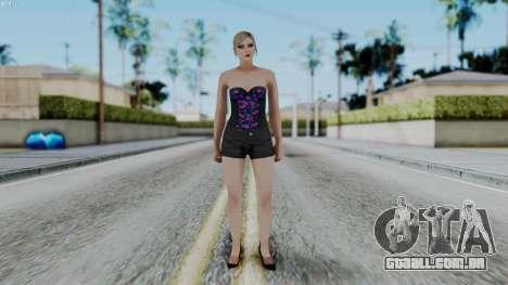 Female Skin 1 from GTA 5 Online para GTA San Andreas segunda tela