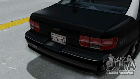 Chevrolet Caprice 1991 CRASH Division para GTA San Andreas vista traseira