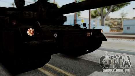 Point Blank Black Panther Rusty IVF para GTA San Andreas vista traseira