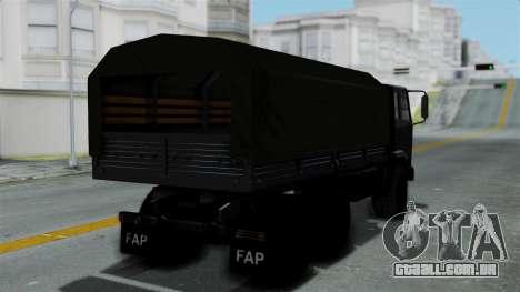 FAP Vojno Vozilo v2 para GTA San Andreas esquerda vista