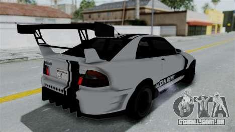 GTA 5 Karin Sultan RS Drift Double Spoiler PJ para GTA San Andreas vista inferior
