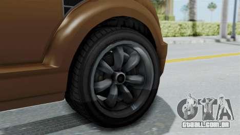 GTA 5 Vapid Radius para GTA San Andreas traseira esquerda vista