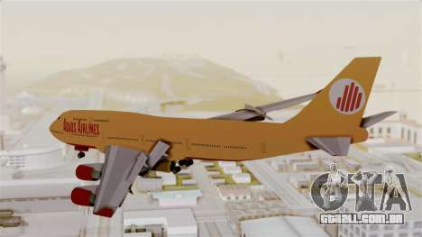 GTA 5 Jumbo Jet v1.0 Adios Airlines para GTA San Andreas esquerda vista