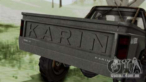 GTA 5 Karin Rebel 4x4 Worn IVF para GTA San Andreas vista superior
