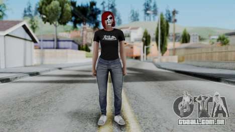 Female Skin 2 from GTA 5 Online para GTA San Andreas segunda tela