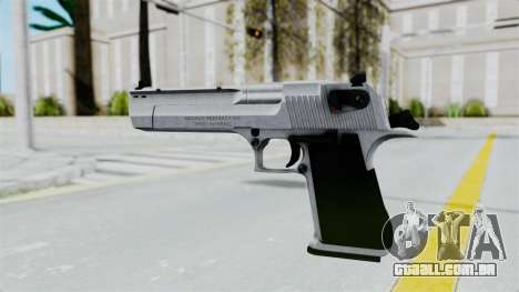 Pouxs Desert Eagle v2 Chrome para GTA San Andreas terceira tela