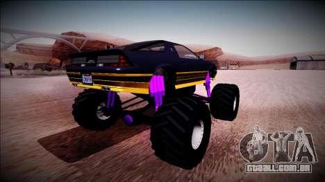 GTA 5 Imponte Ruiner Monster Truck para GTA San Andreas traseira esquerda vista