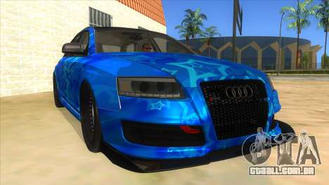 Audi RS6 Blue Star Badgged para GTA San Andreas vista traseira
