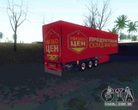 O trailer NIZKOTCEN para GTA San Andreas esquerda vista