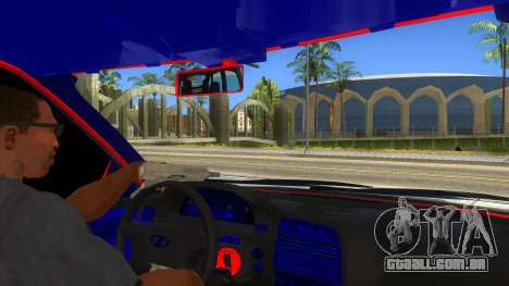 VAZ 2112 Hobo para GTA San Andreas vista interior