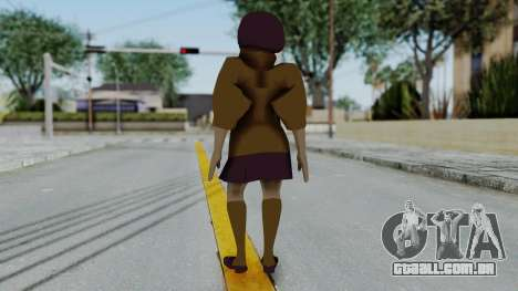 Scooby Doo Velma para GTA San Andreas terceira tela