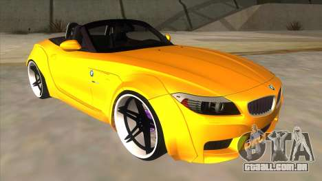 BMW Z4 Liberty Walk Performance para GTA San Andreas vista traseira