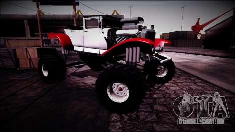 GTA 5 Albany Franken Stange Monster Truck para vista lateral GTA San Andreas