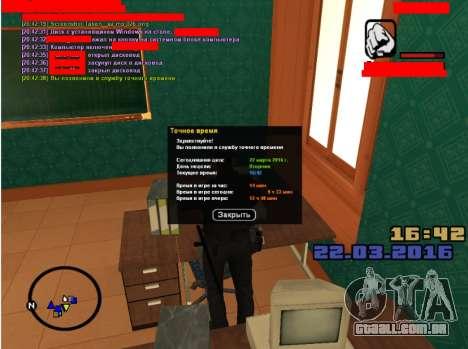 RolePlay empregos para GTA San Andreas segunda tela