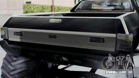 Chevrolet El Camino SS 1970 Monster Truck para GTA San Andreas traseira esquerda vista
