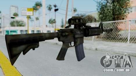 Arma2 M4A1 CCO Camo para GTA San Andreas segunda tela