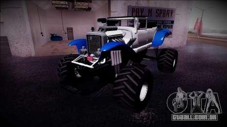 GTA 5 Albany Franken Stange Monster Truck para GTA San Andreas esquerda vista