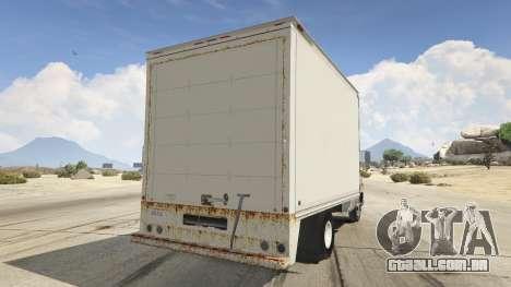 GTA 5 Chevrolet G-30 Cube Truck traseira vista lateral esquerda