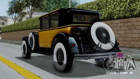 GTA 5 Albany Roosevelt Valor IVF para GTA San Andreas esquerda vista