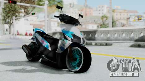 Honda Vario 110 Hatsune Miku Itansha para GTA San Andreas