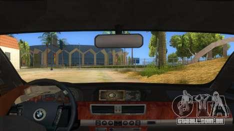 BMW 760 LI para GTA San Andreas vista interior