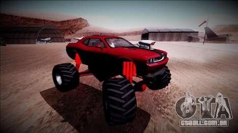 2009 Dodge Challenger SRT8 Monster Truck para GTA San Andreas vista interior