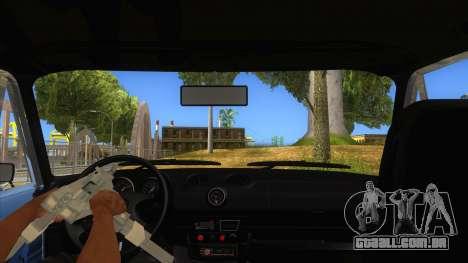 VAZ 2106 Drift Edition para GTA San Andreas vista interior