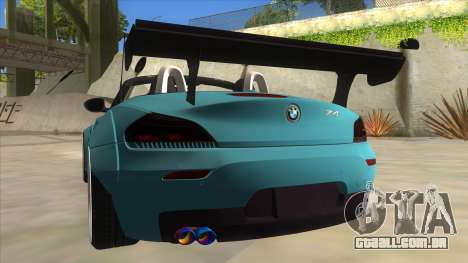BMW Z4 Liberty Walk Performance para GTA San Andreas vista inferior