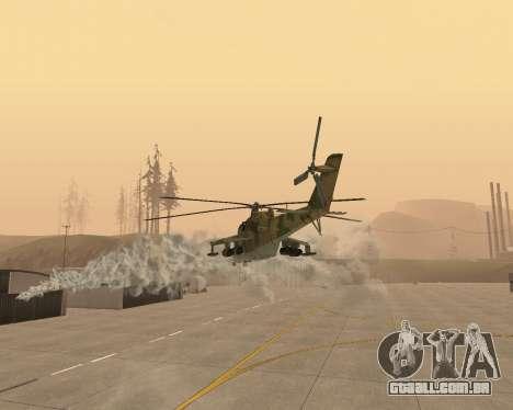 Um Mi-24 De Crocodilo para GTA San Andreas vista superior