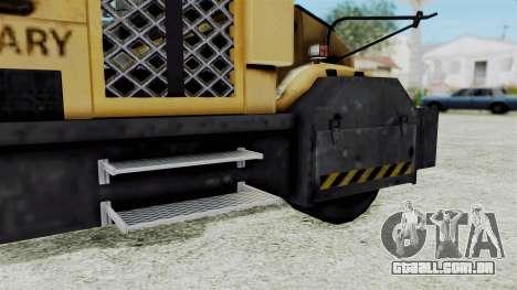 Armored School Bus para GTA San Andreas traseira esquerda vista