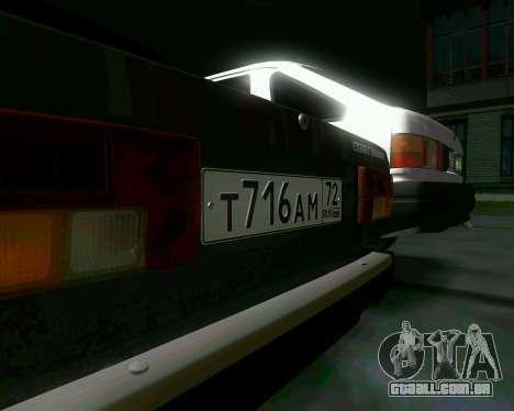 VAZ 2107 Hobo para GTA San Andreas vista traseira
