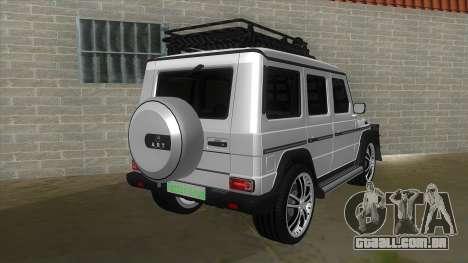 Mercedes-Benz G55 Response para GTA San Andreas vista direita
